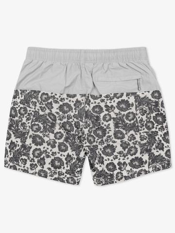 Винтажные пляжные шорты «Светло-серая хохлома»