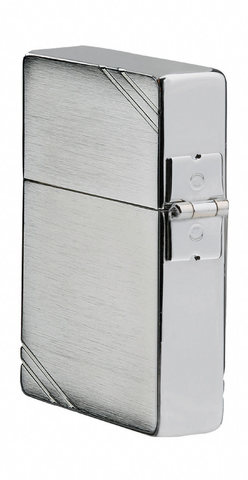 Зажигалка Zippo Replica, с покрытием Brushed Chrome, латунь/сталь, серебристая, матовая, 36x12x123