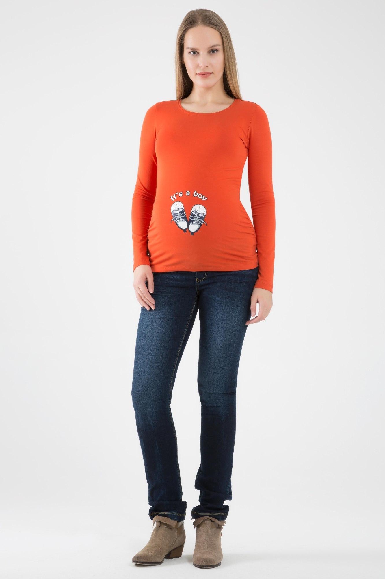 Лонгслив для беременных 06967 оранжевый