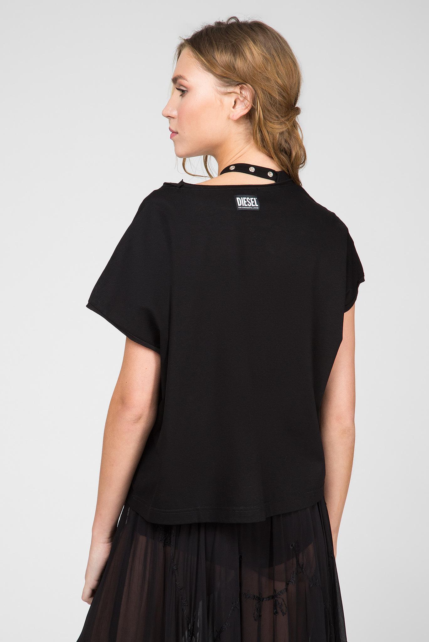 Женская черная футболка T-JALA Diesel