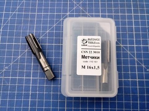 Метчик М16х1,5 (комплект 2шт) CSN223010 2N CS(115CrV3) Bucovice(CzTool) 110161