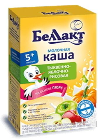 Каша сухая молочная тыквенно-яблочно-рисовая с 5-ти месяцев 250г. Беллакт