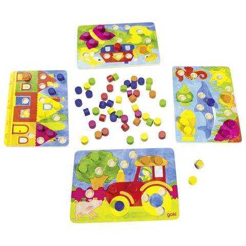 Игра цветные фишки