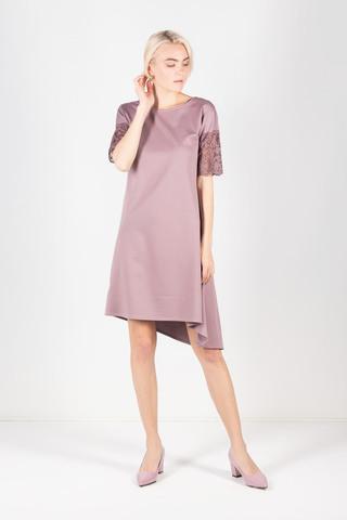 Фото красивое нежно-розовое платье с кружевом - Платье З429а-829 (1)