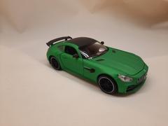 Металлическая Машина Mercedes Benz AMG зеленая