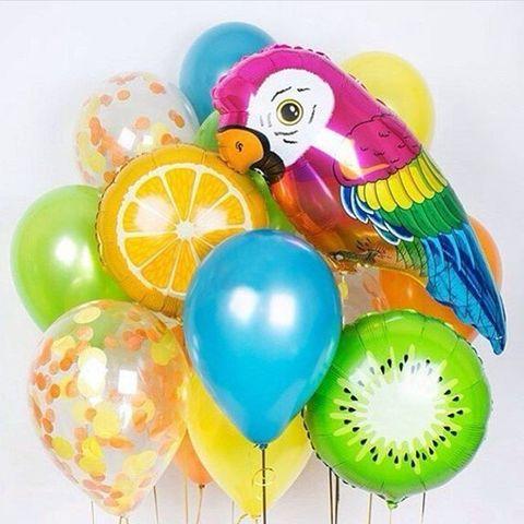 Сет воздушных разноцветных шаров Тропический