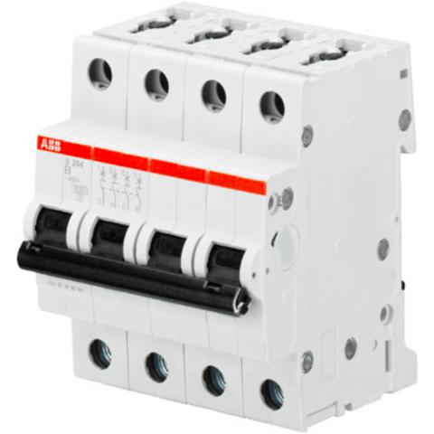Автоматический выключатель 4-полюсный 63 А, тип B, 10 кА S204M B63. ABB. 2CDS274001R0635