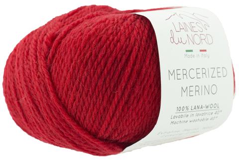 Пряжа Mercerized Merino (Мерсеризед Мерино). Красный. Артикул: 24