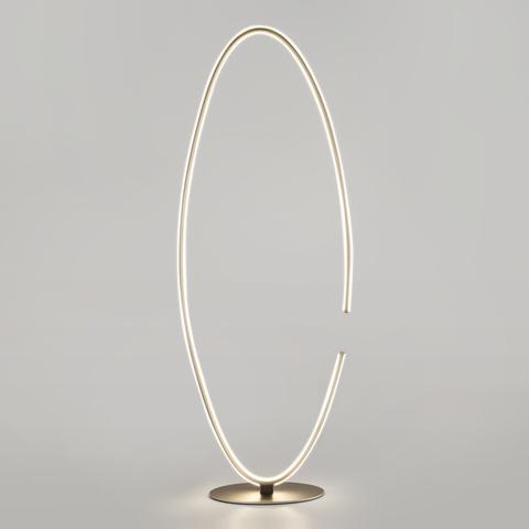 Напольный светодиодный светильник 80415/1 сатин-никель