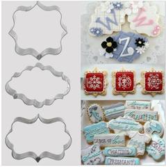 Набор форм для пряников и печенья, набор 3 шт, металл