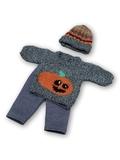 Вязаный комплект - Тыква. Одежда для кукол, пупсов и мягких игрушек.
