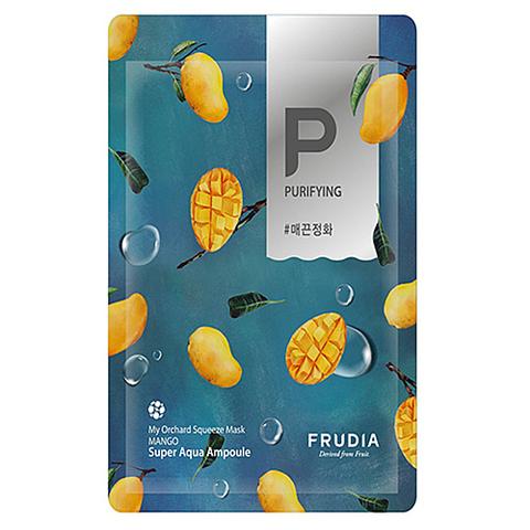 Frudia Маска тканевая смягчающая с манго - My orchard squeeze mask mango, 20 мл