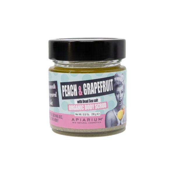 Скраб для тела Apiarium Peach & Grapefruit Organic Body Scrub Персик и Грейпфрут 270 гр.