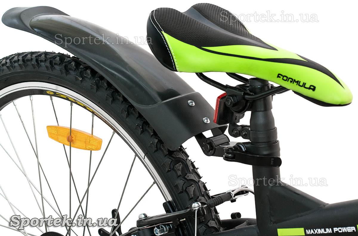Седло горного складного универсального велосипеда Formula Hummer 2015 (Формула Хаммер) - черно-зеленое