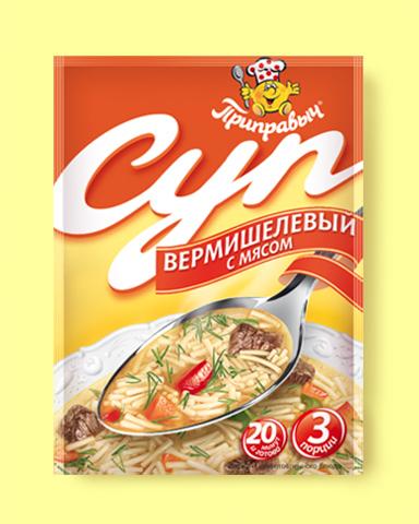 """Суп """"Приправыч"""" вермишелевый с мясом 60 г"""