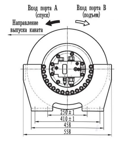 Эвакуационная лебедка IYJ33-55-120-16-ZPNL
