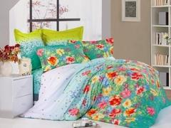 Сатиновое постельное бельё  1,5 спальное Сайлид  В-136