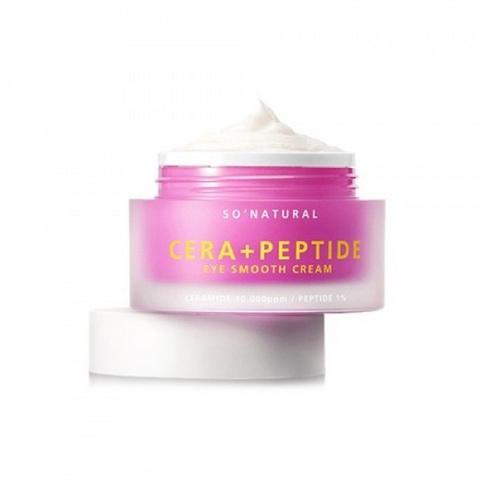 So Natural Cera Plus Peptide Eye Smooth Cream лифтинг-крем с пептидами и керамидами для кожи вокруг глаз
