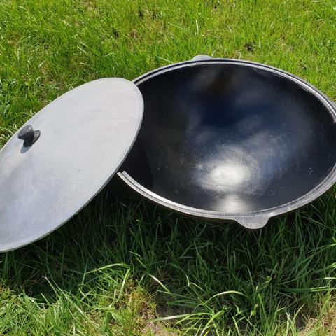 Казан с алюминиевой крышкой