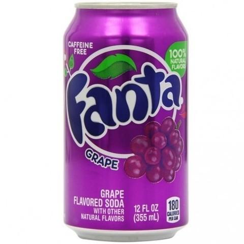 Fanta Grape Фанта со вкусом винограда 0,355 л