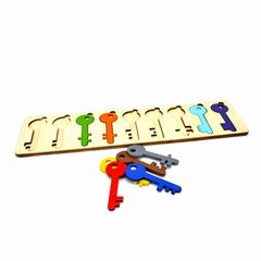 Развивающая игра Ключики с замочками Нейромаг 008