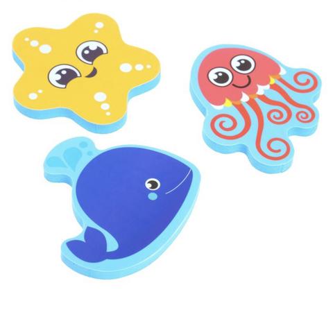 Набор игрушек для ванны «Морские жители»: фигурки-стикеры из EVA, 3 шт.