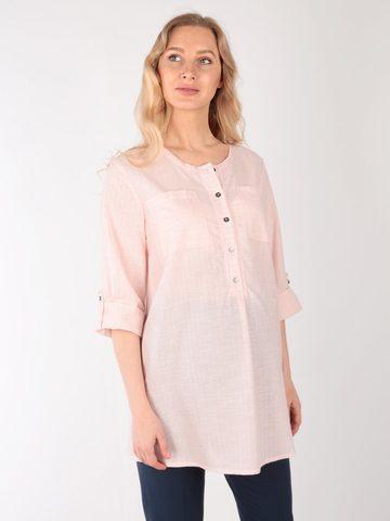 Евромама. Блуза для беременных и кормящих в полоску, пудра вид 1