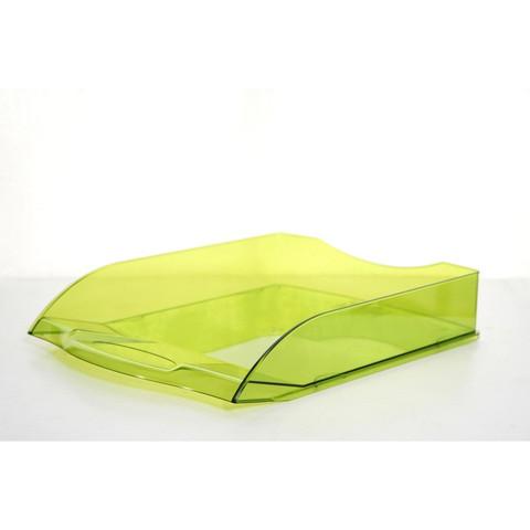 Лоток для бумаг горизонтальный Attache Яркий Офис тонированный светло-зеленый
