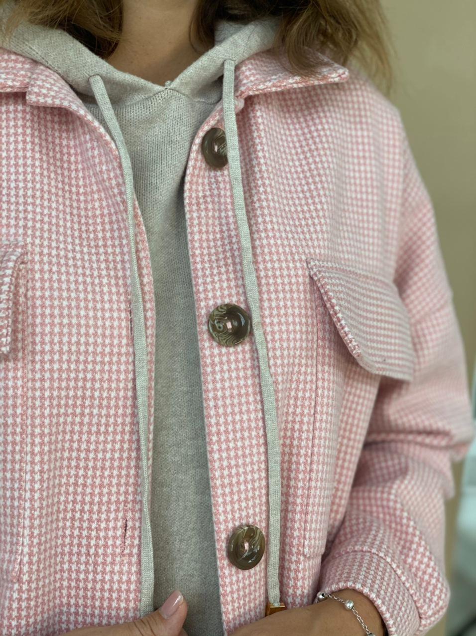 Пальто-рубашка, Ballerina, Nirvana (розовый с белым)
