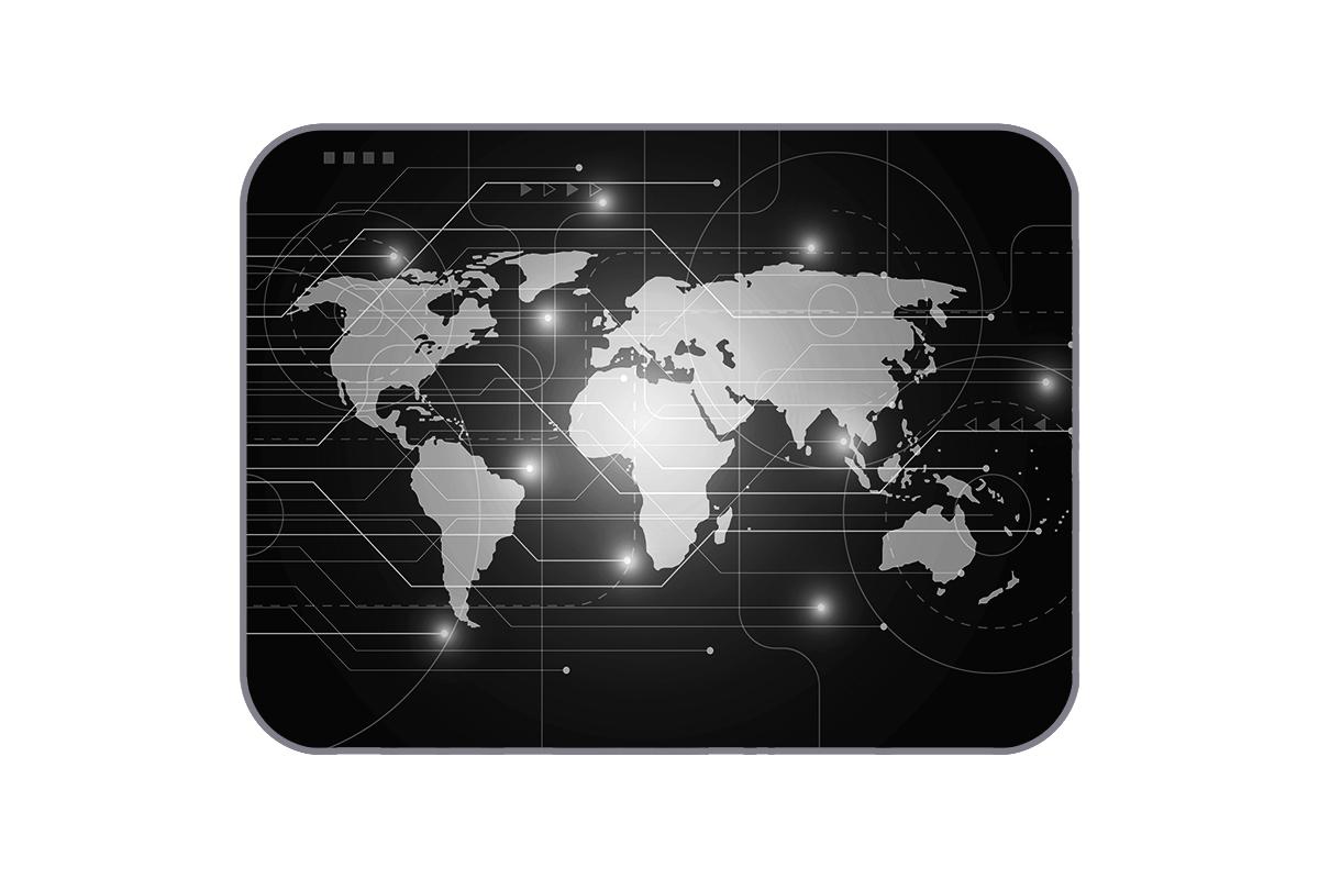Плюшевый коврик Digital Map 120х160 см