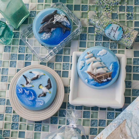Форма для мыловарения Море. Дельфины
