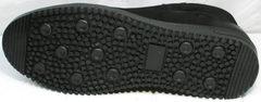 Мужские зимние ботинки на толстой подошве Luciano Bellini 71783 Black.