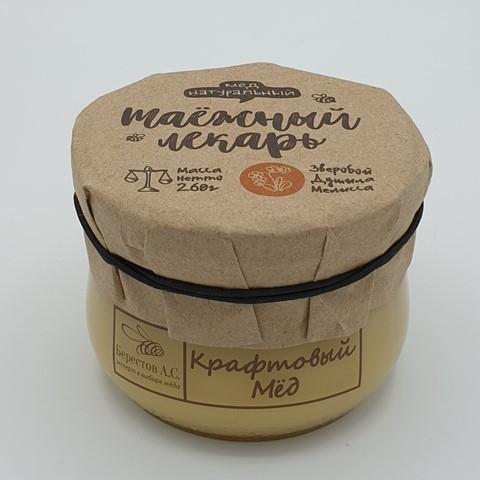 Мёд натуральный крафтовый Таёжный лекарь БЕРЕСТОВ А.С., 260 гр