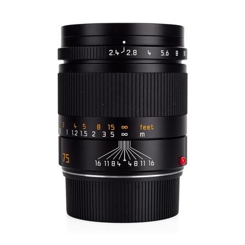 Leica Summarit-M 75mm f/2.4 Black