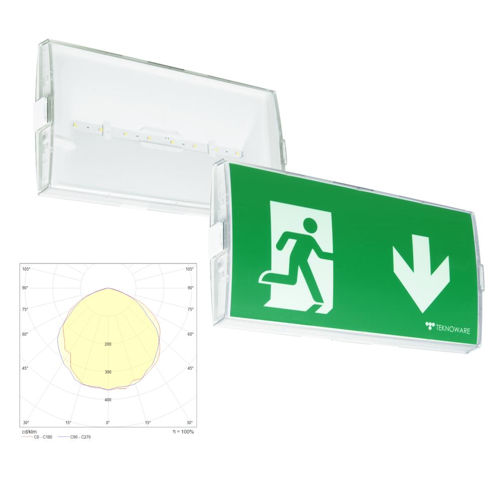 Аварийный светильник эвакуационного освещения EASY COMBO IP54 Teknoware – внешний вид
