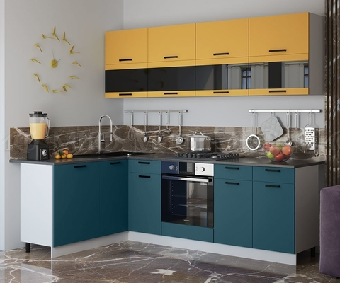 Кухня Угловая Техно NEW 1,6-2,4 м №2