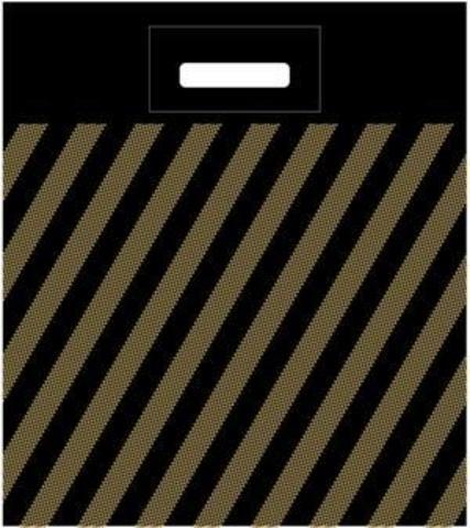 Пакет полиэтиленовый с вырубной ручкой 40х48+3 (45) А (Полоса рейтер)