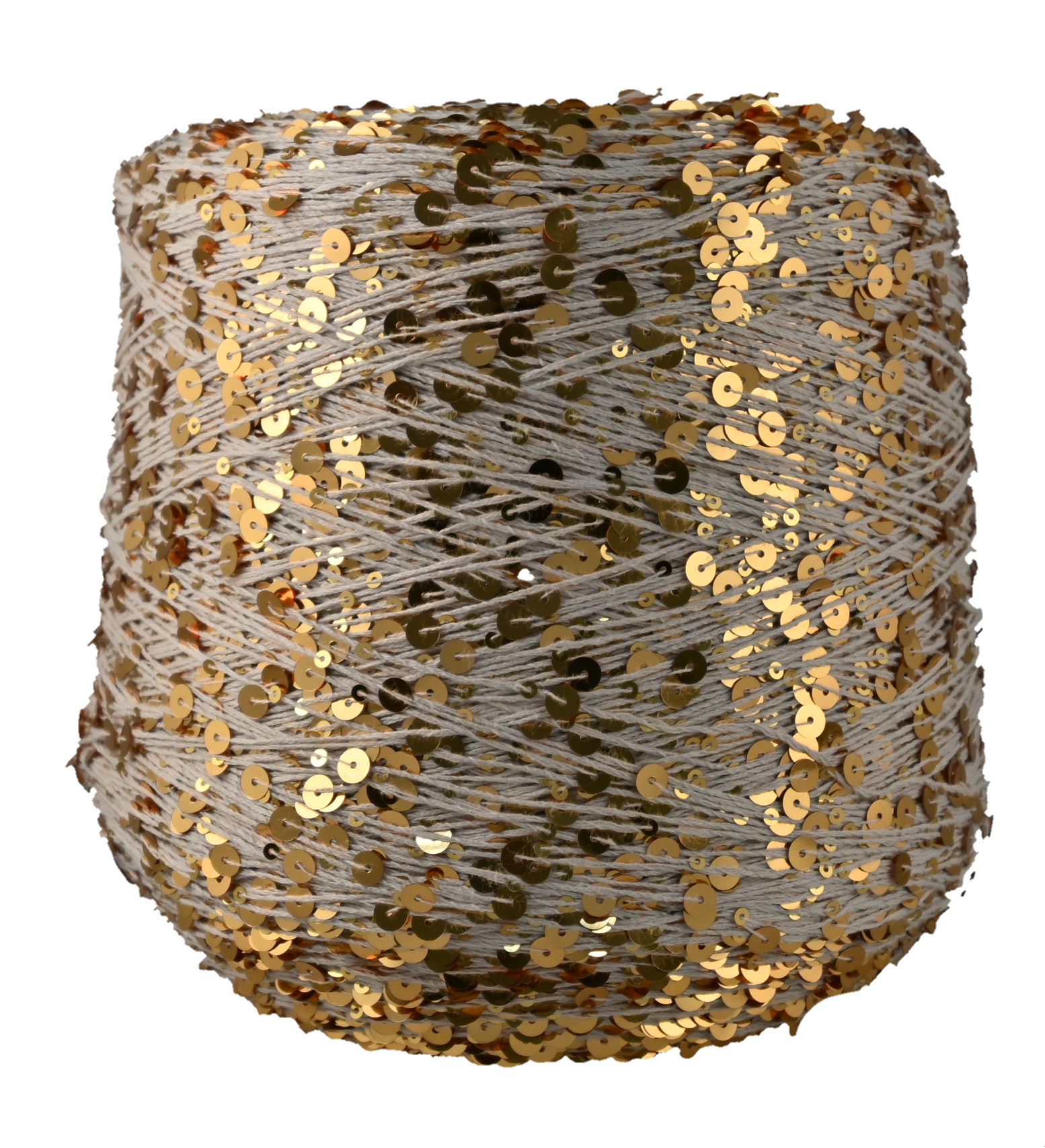 Пряжа Shine Paillettes 6305 золотой беж