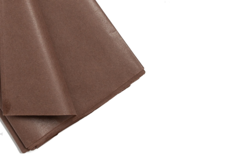 Бумага тишью 50*66 см (10 листов) цв. Шоколад Китай