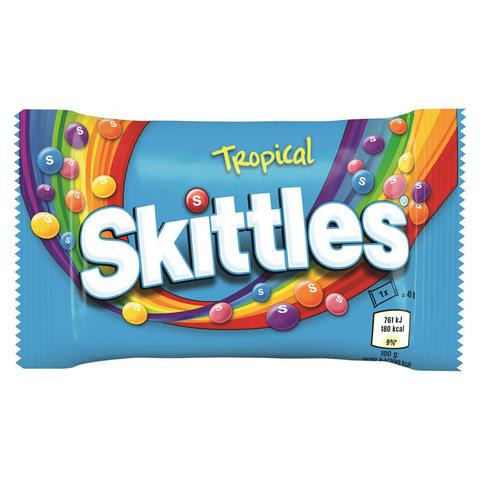 Драже Skittles Tropical со вкусом тропических фруктов 45 гр