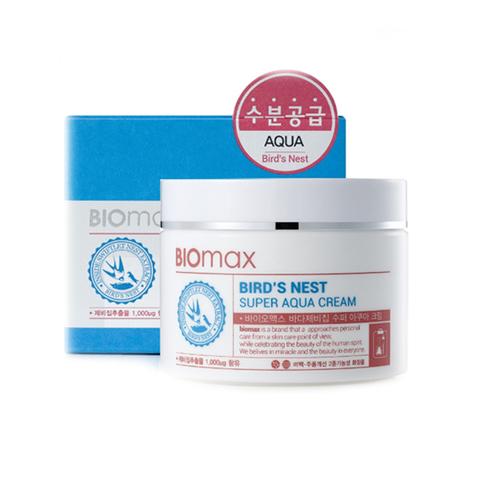 Biomax Крем для лица с экстрактом ласточкиного гнезда Bird's Nest Super Aqua Cream, интенсивно увлажняющий, 100 мл