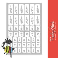 Трафареты для ногтей Flame №2