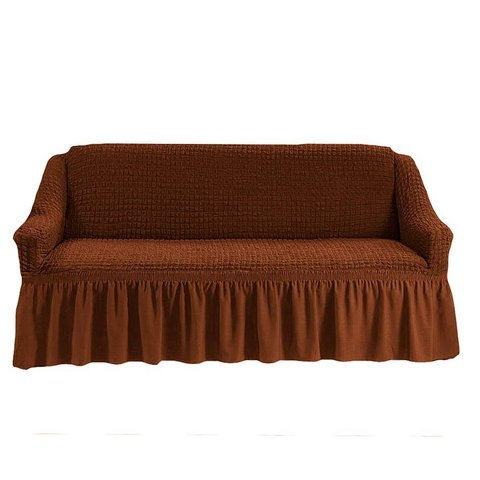 Чехол на трехместный диван, коричневый