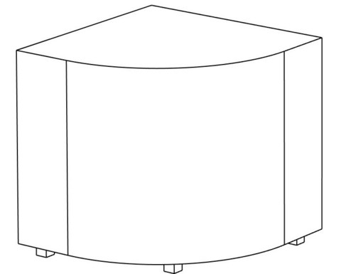 Пф-04 Пуфик угловой (желтый) для дома и магазина