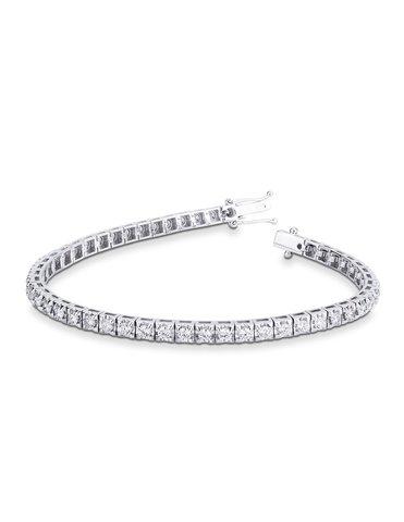 87543 -Теннисный браслет- дорожка из серебра с круглыми цирконами d=2,5мм
