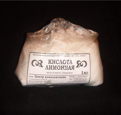 Лимонная кислота (моногидрат).