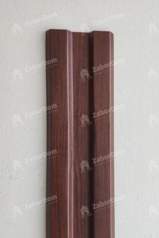 Евроштакетник металлический 80 мм Античный дуб W-образный 0.45 мм