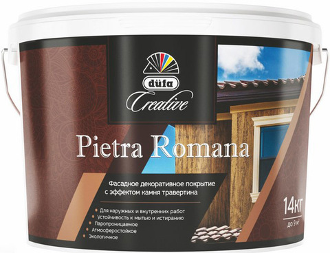 Dufa Creative Pietra Romana/Дюфа Креатив Пиетра Романа Фасадное фактурное покрытие с эффектом травертина
