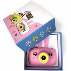 Детский фотоаппарат зайка розовый