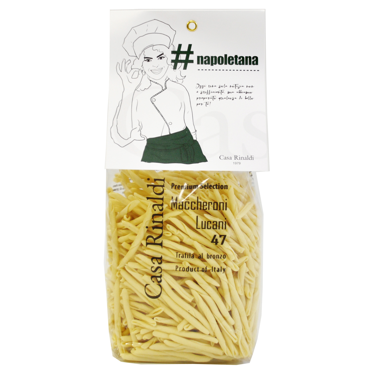 Паста Premium Маккерони Лукани Casa Rinaldi 500 г
